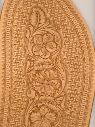 Western Floral Carving – Klenda's Custom Saddles, Bob Klenda