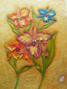 Orchids Leather Carving and Coloring